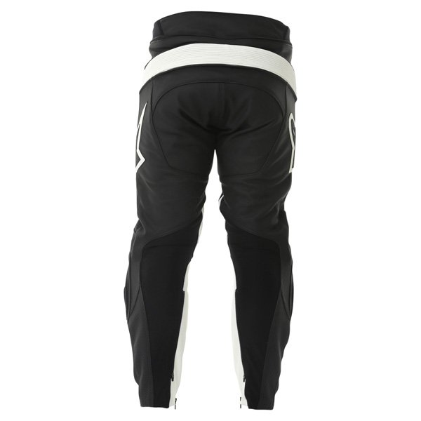 Alpinestars Track 2013 Black White Leather Motorcycle Jeans Rear