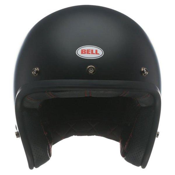Bell Custom 500 Matt Black Open Face Motorcycle Helmet Front