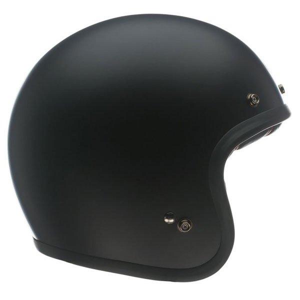 Bell Custom 500 Matt Black Open Face Motorcycle Helmet Right Side