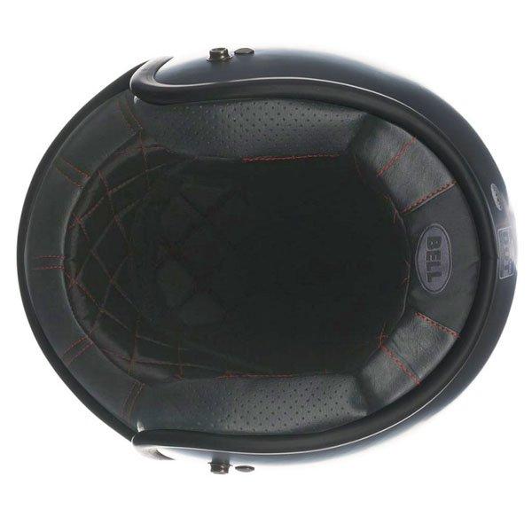 Bell Custom 500 Matt Black Open Face Motorcycle Helmet Inside
