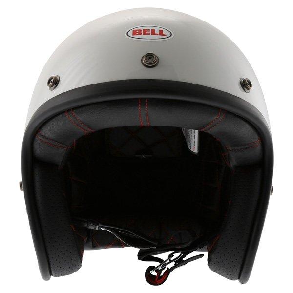 Bell Custom 500 White Open Face Motorcycle Helmet Front