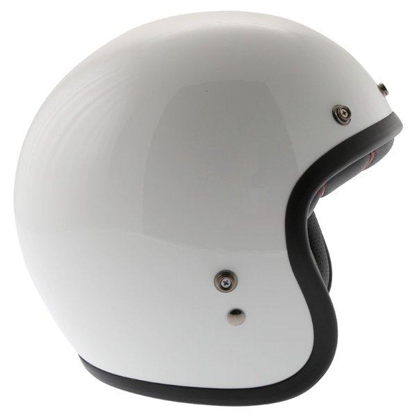 Bell Custom 500 White Open Face Motorcycle Helmet Right Side