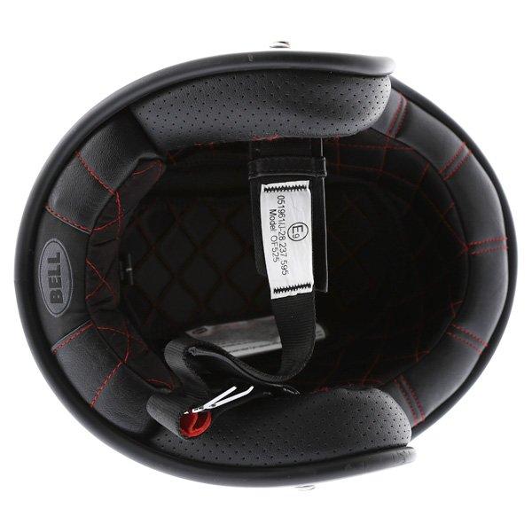 Bell Custom 500 White Open Face Motorcycle Helmet Inside