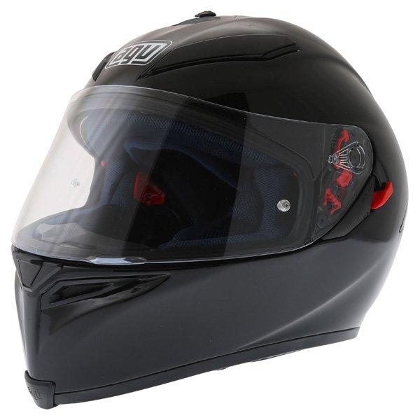 AGV K5 Black Full Face Motorcycle Helmet Front Left