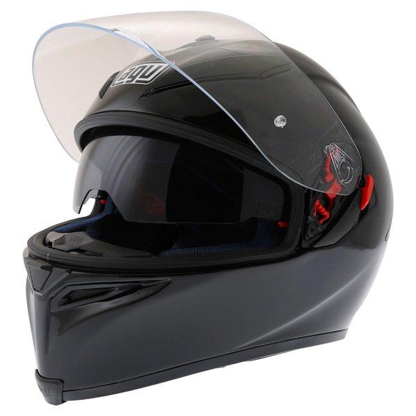 AGV K5 Black Full Face Motorcycle Helmet Open With Sun Visor