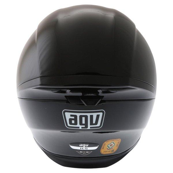 AGV K5 Black Full Face Motorcycle Helmet Back