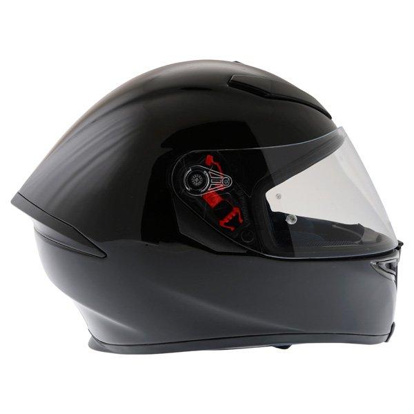 AGV K5 Black Full Face Motorcycle Helmet Right Side