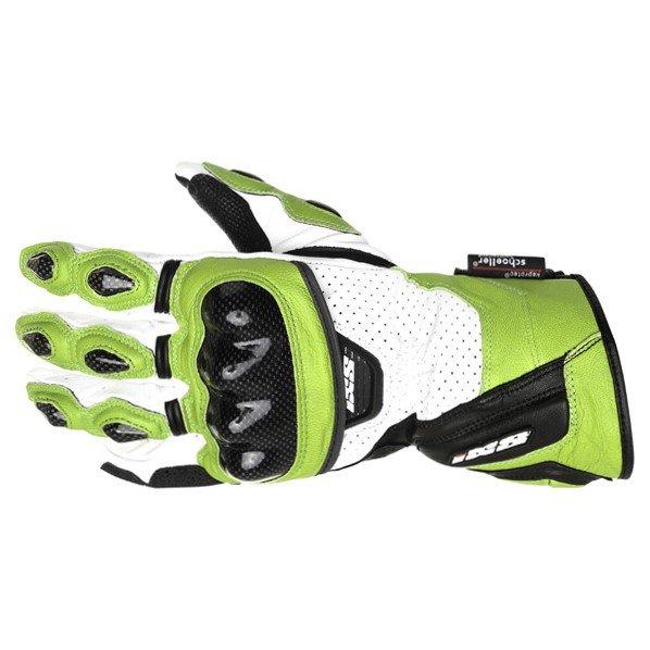 Rocket Gloves Green White Black Gloves