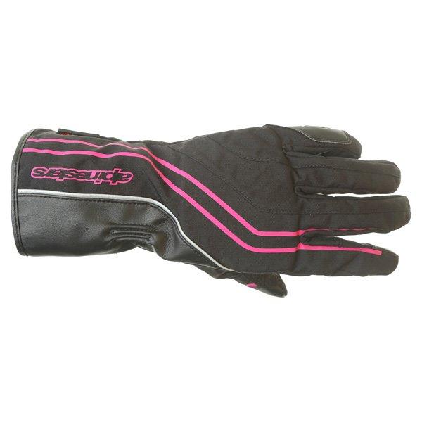 Alpinestars Largo Drystar Ladies Black Pink Motorcycle Gloves Back