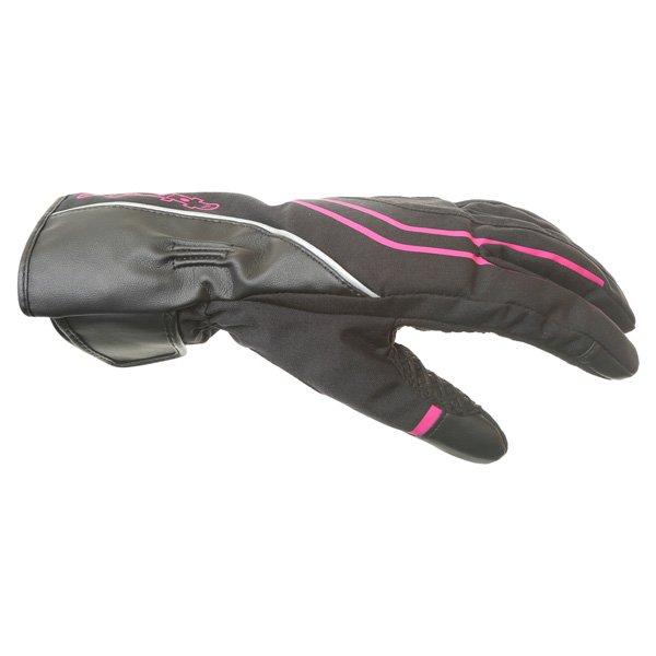 Alpinestars Largo Drystar Ladies Black Pink Motorcycle Gloves Thumb side