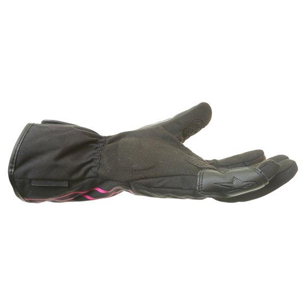 Alpinestars Largo Drystar Ladies Black Pink Motorcycle Gloves Little finger side