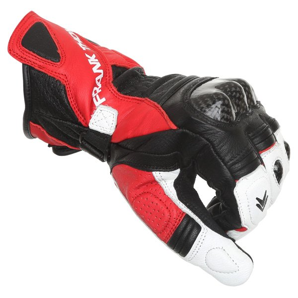 Frank Thomas Beta Black Red White Motorcycle Gloves Knuckle