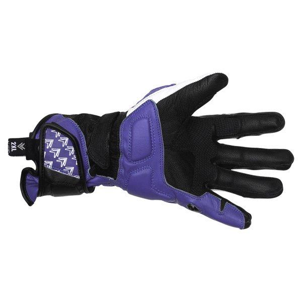 Frank Thomas Beta Black Blue White Motorcycle Gloves Palm