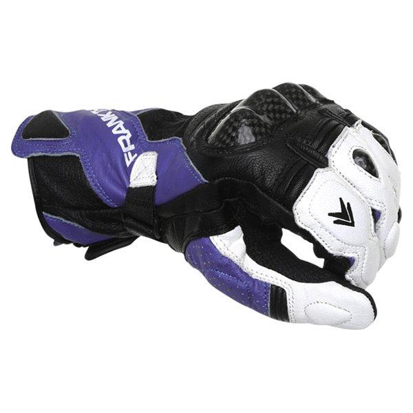 Frank Thomas Beta Black Blue White Motorcycle Gloves Knuckle