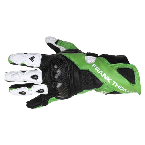 Frank Thomas Beta Black Green White Motorcycle Gloves Back