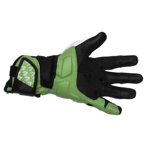 Frank Thomas Beta Black Green White Motorcycle Gloves Palm