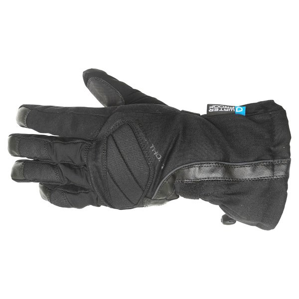 Frank Thomas Sirius Black Motorcycle Gloves Back