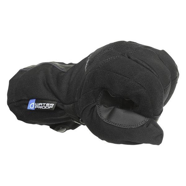 Frank Thomas Sirius Black Motorcycle Gloves Knuckle