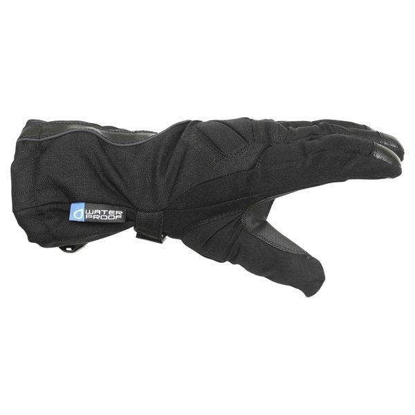 Frank Thomas Sirius Black Motorcycle Gloves Thumb side