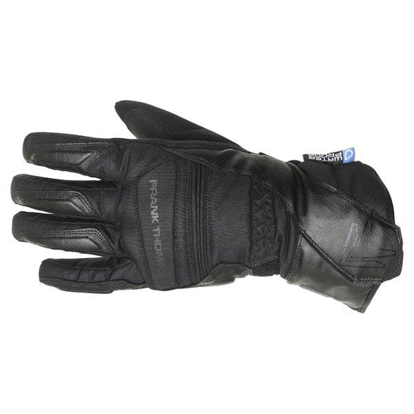 Frank Thomas Black Motorcycle Castor Gloves Back