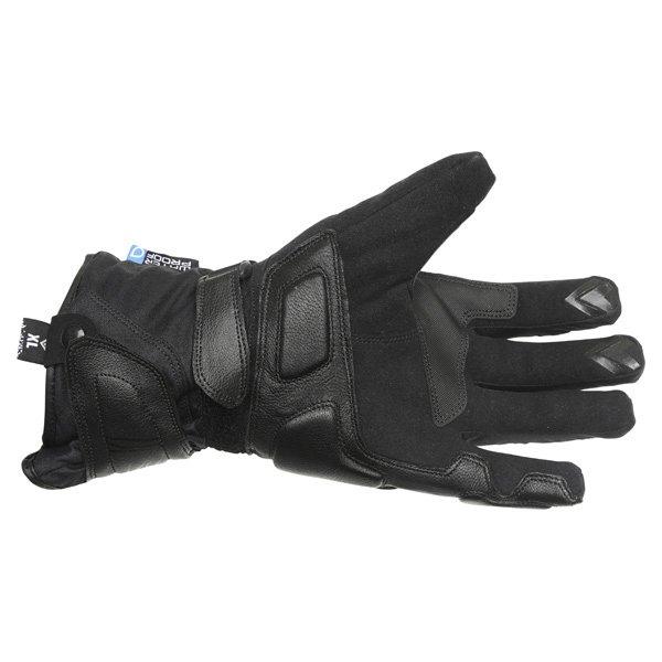 Frank Thomas Castor Black Motorcycle Gloves Palm