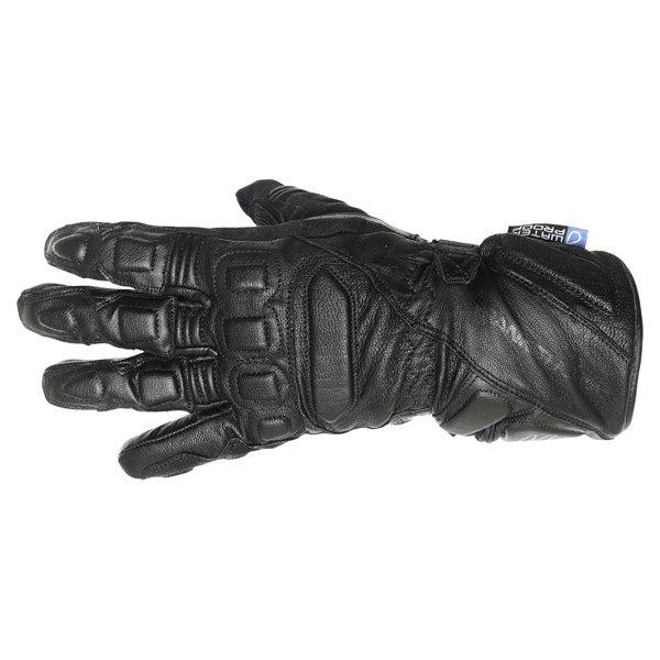 Frank Thomas Vega Black Motorcycle Gloves Back