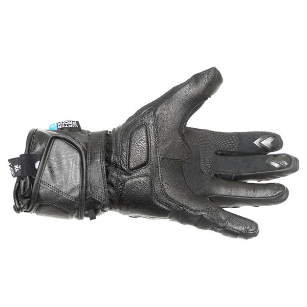Frank Thomas Vega Black Motorcycle Gloves Palm