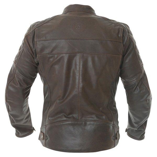BKS Retro Brown Leather Motorcycle Jacket Back