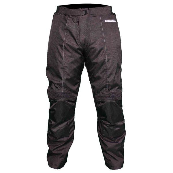 Frank Thomas FTW802 Solar Mens Black Textile Motorcycle Pants Front