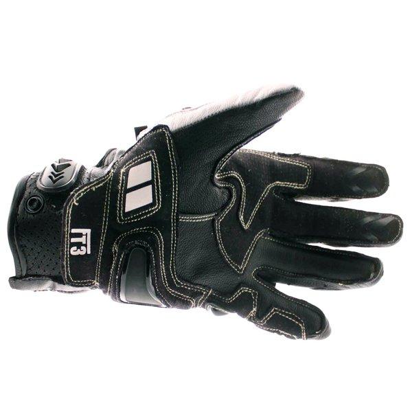 Frank Thomas Delta Black White Motorcycle Gloves Palm