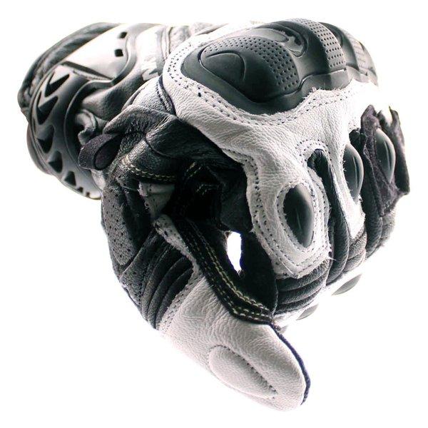 Frank Thomas Delta Black White Motorcycle Gloves Knuckle
