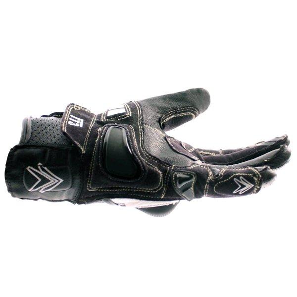 Frank Thomas Delta Black White Motorcycle Gloves Little finger side