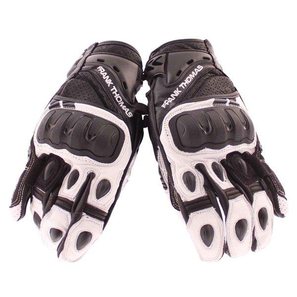 Frank Thomas Delta Black White Motorcycle Gloves