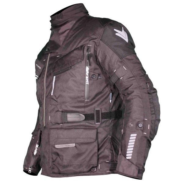 Frank Thomas FTW701 Jupiter Mens Black Textile Motorcycle Jacket Side
