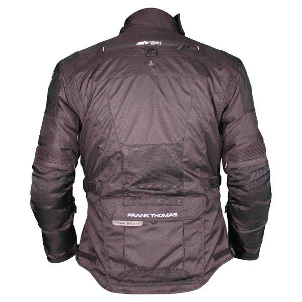 Frank Thomas FTW701 Jupiter Mens Black Textile Motorcycle Jacket Back