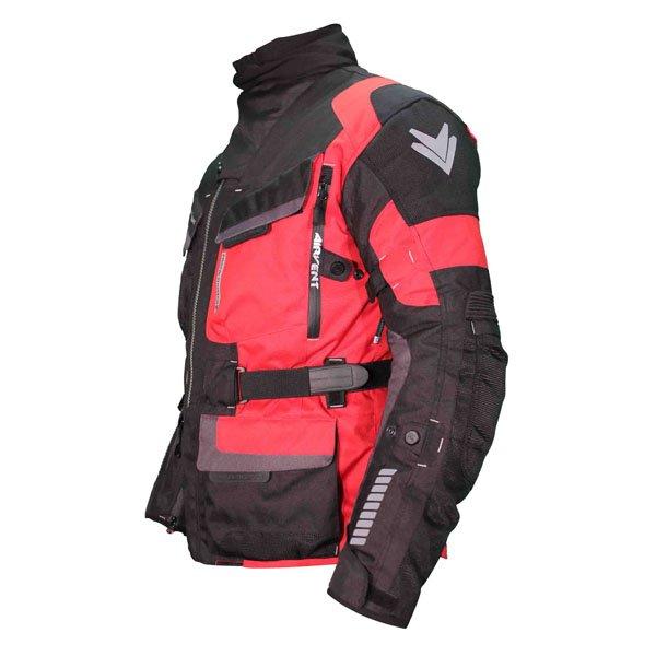 Frank Thomas FTW701 Jupiter Mens Black Red Textile Motorcycle Jacket Side