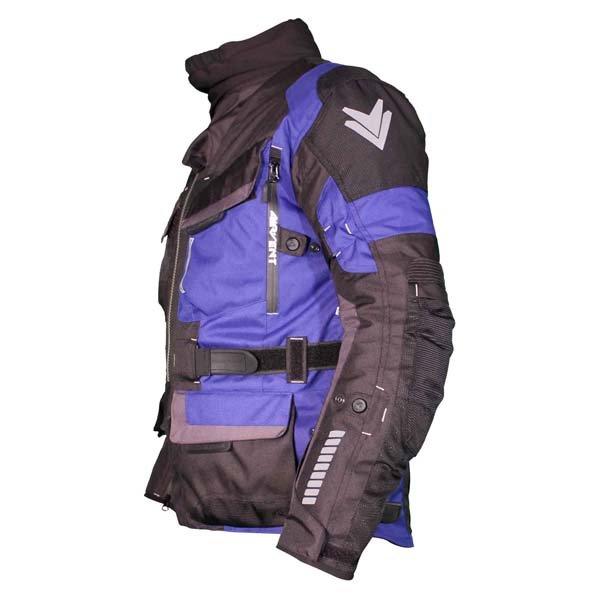 Frank Thomas FTW701 Jupiter Mens Black Blue Textile Motorcycle Jacket Side