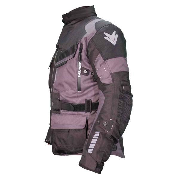 Frank Thomas FTW701 Jupiter Mens Black Grey Textile Motorcycle Jacket Side