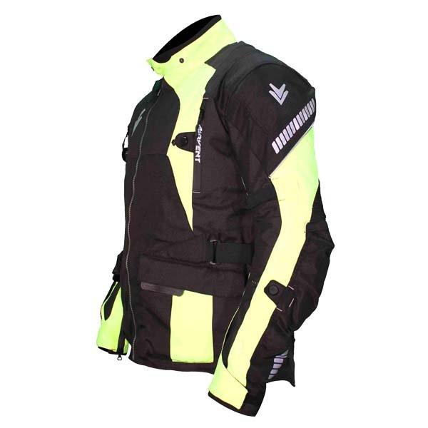 Frank Thomas FTW702 Mercury Mens Black Yellow Textile Motorcycle Jacket Side