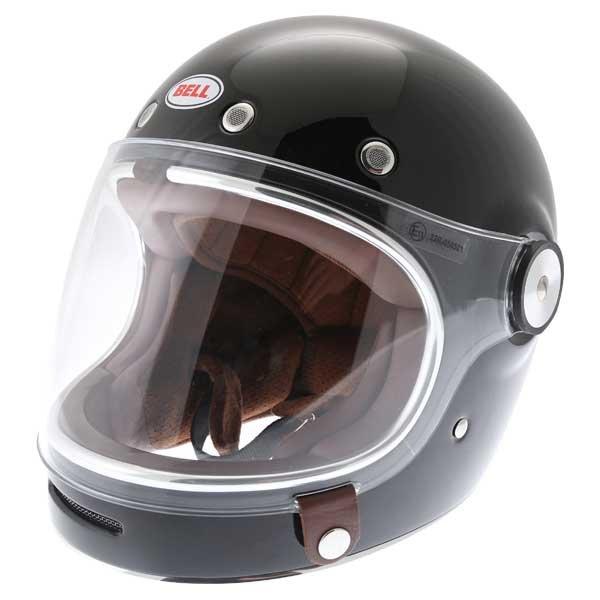 Bell Bullitt Black Full Face Motorcycle Helmet Front Left