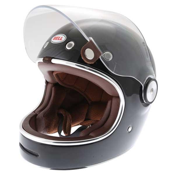 Bell Bullitt Black Full Face Motorcycle Helmet Open Visor