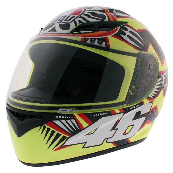 AGV K3 Rossi Brazil 2001 Full Face Motorcycle Helmet Front Left