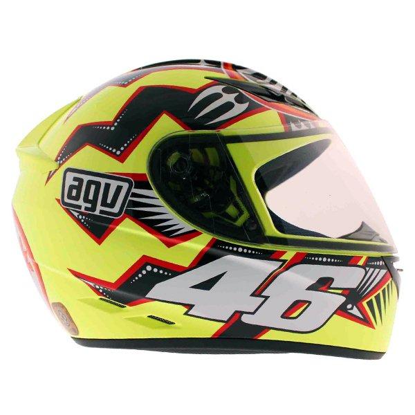 AGV K3 Rossi Brazil 2001 Full Face Motorcycle Helmet Right Side