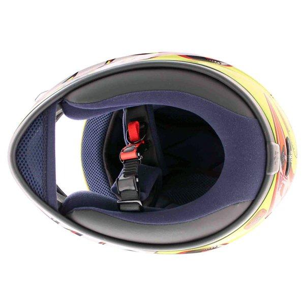 AGV K3 Rossi Brazil 2001 Full Face Motorcycle Helmet Inside