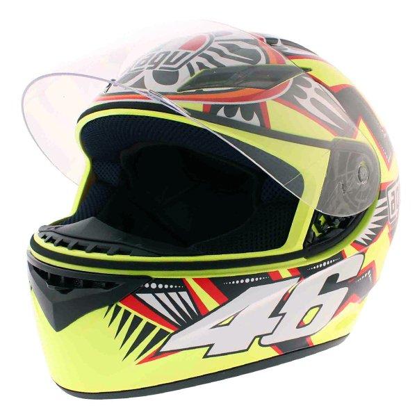 AGV K3 Rossi Brazil 2001 Full Face Motorcycle Helmet Open