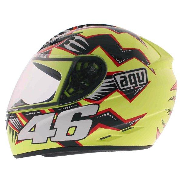 AGV K3 Rossi Brazil 2001 Full Face Motorcycle Helmet Left Side