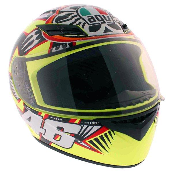 AGV K3 Rossi Brazil 2001 Full Face Motorcycle Helmet Front Right