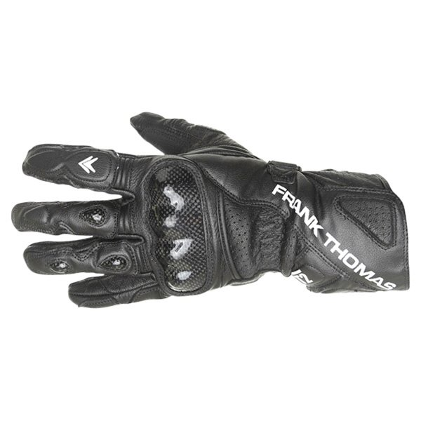 Frank Thomas Beta Black Motorcycle Gloves Back