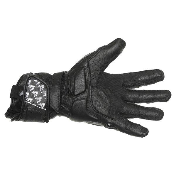 Frank Thomas Beta Black Motorcycle Gloves Palm