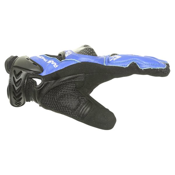 Frank Thomas Omega Black Blue Motorcycle Gloves Thumb side